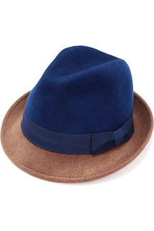 Men Hats - Artisanal Brown Cotton Men's Felt Fedora Hat 57cm Justine Hats