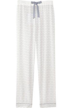 Women Sweats - Women's Low-Impact White Mix & Match Romance Print Trousers In Small Pretty You London