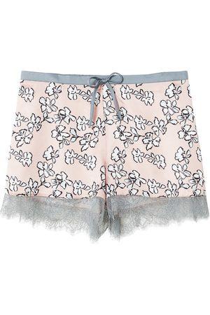 Women's Low-Impact Pink Mix & Match Floral Shorts Large Pretty You London