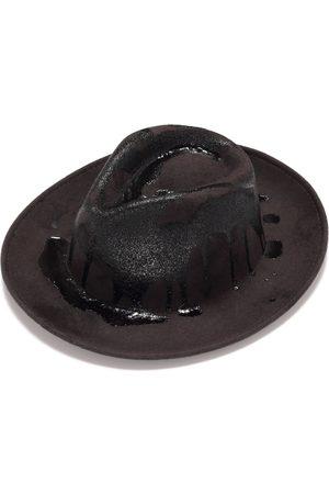 Men Hats - Artisanal Grey Men's Felt Fedora 56cm Justine Hats