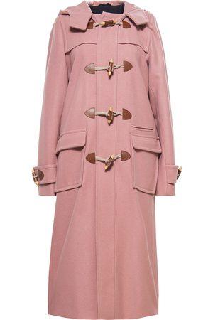 "Women Duffle Coat - Women's Artisanal Mauve Wool Heja Duffle Coat "" XS Tomcsanyi"