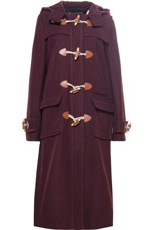 "Women Duffle Coat - Women's Artisanal Ruby Wool Heja Duffle Coat "" Small Tomcsanyi"