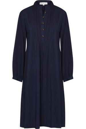 Women Tunic Dresses - Women's Black Chloe Dress Navy Rayon Large Libelula