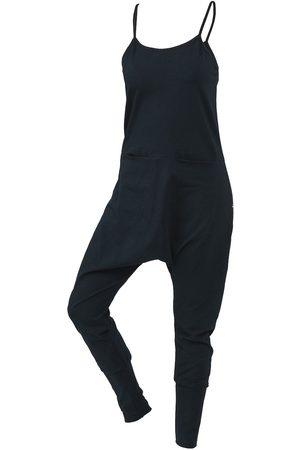 Women's Artisanal Black Cotton Non159 String Strap Jumpsuit Medium NON+