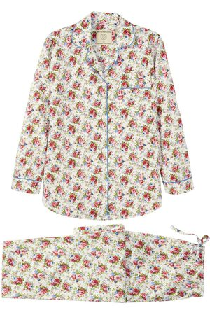 Women Pajamas - Organic Rose Cotton Women's Rosy Posy Pyjama Set XS British Boxers