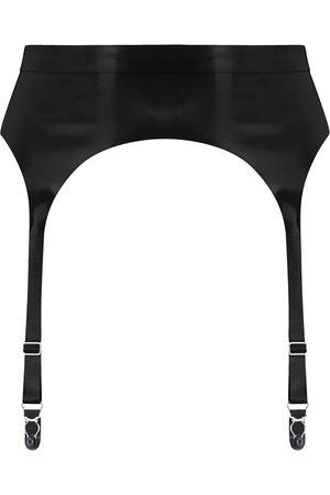 Women Underwear Accessories - Women's Artisanal Black Latex Suspender Medium Elissa Poppy