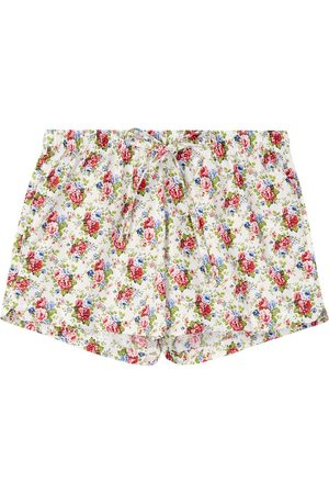 Organic Cotton Women's Rosy Posy Pyjama Shorts XXL British Boxers