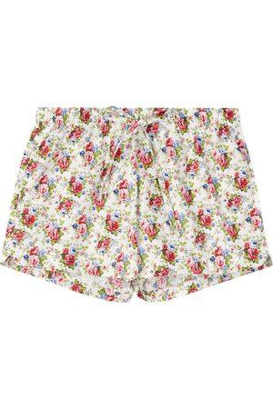 Women Pajamas - Organic Cotton Women's Rosy Posy Pyjama Shorts Large British Boxers