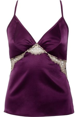 Women's Artisanal Pink/Purple Silk Cleo Garnet Camisole XS Emma Harris