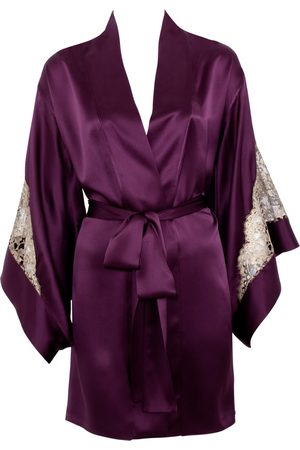 Farrah + Sloane Deep Purple Pearls Open Ended Necklace