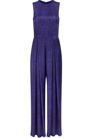 Women's Artisanal Blue Pippa Jumpsuit - Flecked Sapphire Medium Isabel Manns