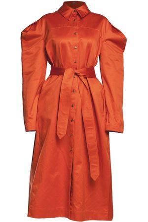 Women Trench Coats - Women's Recycled Orange Trench-Dress Antoinette Large Z.G.EST