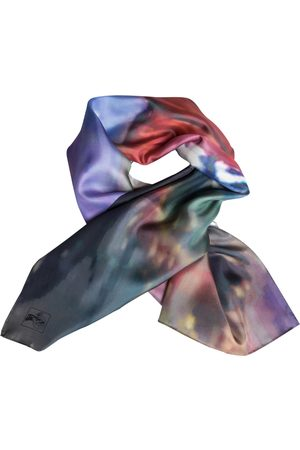 Women's Blue/Brown/Red Silk A Daughter Returns: Helo Girl Story Scarf ImageDiary