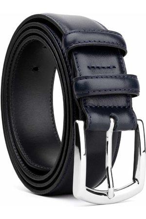 Men's Carbon Neutral Blue Brass Classic Leather Belt Sandro 44in Dalgado