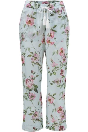 Women Pajamas - Women's Low-Impact Blue Cotton Juliet Organic Pyjama Bottoms XL Wallace Cotton