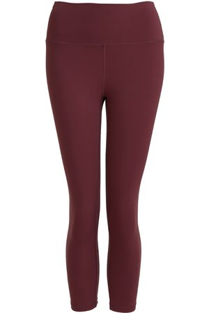 Women Leggings - Women's Recycled Peach Move More Burgundy Capri Leggings XL Perky Peach