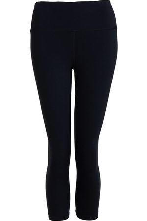 Women Leggings - Women's Recycled Peach Move More Black Capri Leggings Large Perky Peach