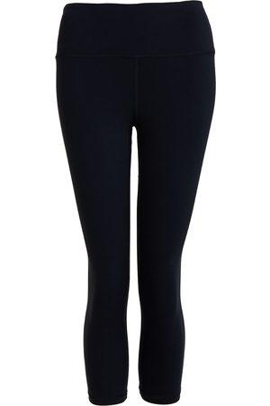 Women Leggings - Women's Recycled Peach Move More Black Capri Leggings Small Perky Peach