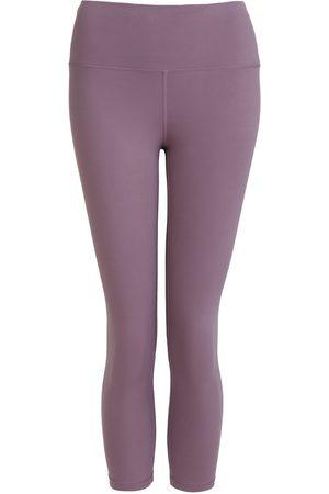 Women Leggings - Women's Recycled Peach Move More Mauve Capri Leggings Large Perky Peach