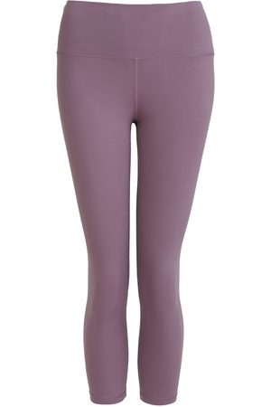 Women Leggings - Women's Recycled Peach Move More Mauve Capri Leggings Small Perky Peach