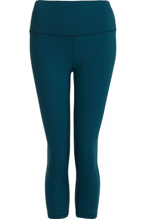 Women Leggings - Women's Recycled Peach Move More Forest Green Capri Leggings Large Perky Peach
