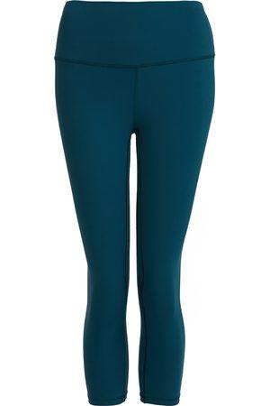 Women Leggings - Women's Recycled Peach Move More Forest Green Capri Leggings Medium Perky Peach