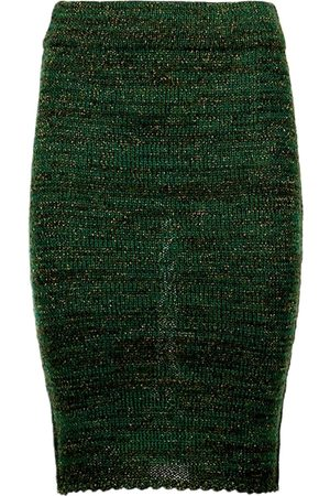 Women's Artisanal Green Cotton Greetje Alpaca Tube Skirt Medium Graciela Huam