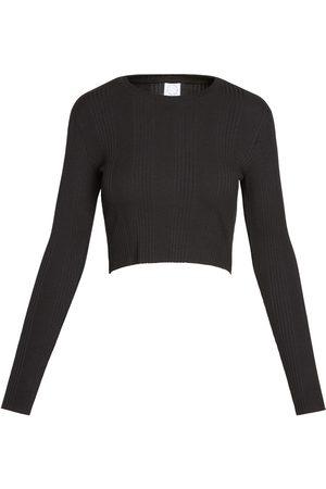Women Crop Tops - Women's Vegan Black Cotton Crop 001 XL black white beige