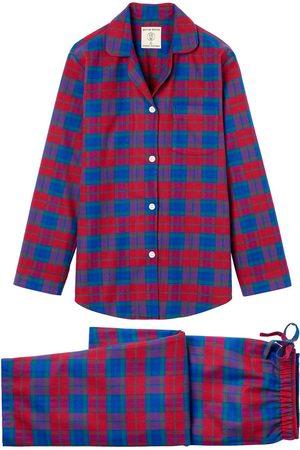 Organic Red Cotton Women's Bordeaux Brushed Pyjama Set XXL British Boxers