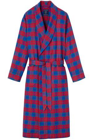 Men Boxer Shorts - Organic Bordeaux Cotton Men's Brushed Dressing Gown XXL British Boxers