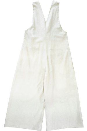 Women's Artisanal Natural Cotton Truffle Jumpsuit Medium keegan