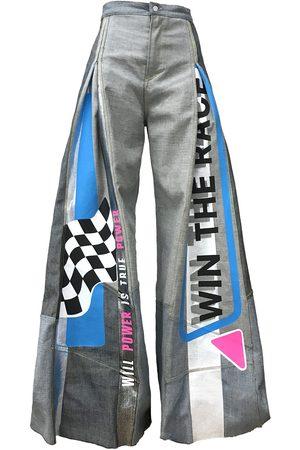 Women Wide Leg - Women's Artisanal Blue Win The Race Wide Leg Jeans XS Manon Planche
