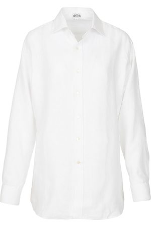 Artisanal White Linen Mens Classic In Large Antra Designs