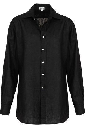 Men Chinos - Artisanal Black Linen Mens Classic In XL Antra Designs