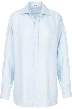 Artisanal Blue Linen Mens Classic Large Antra Designs