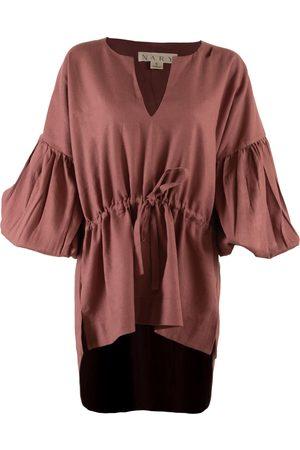 Women's Artisanal Pink Cotton Koh Rong Linen Lounge Top Medium Nary