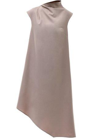 Women Asymmetrical Dresses - Women's Recycled Natural Cotton Magda Asymmetric Dress XXL Z.G.EST