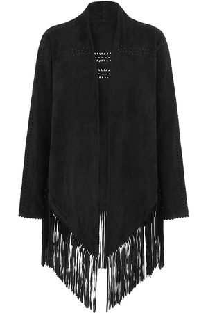 Women Leather Jackets - Women's Black Leather The Bardot Suede Jacket House of Dharma