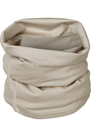 Men Scarves - Organic Natural Wool Men's 100% Traceable Ultrafine Merino Snood Loop Stone Scarf Small Smalls Merino