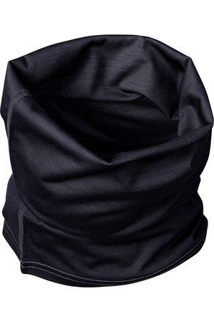Men Scarves - Organic Black Wool Men's 100% Traceable Ultrafine Merino Snood Loop Midnight Scarf Large Smalls Merino