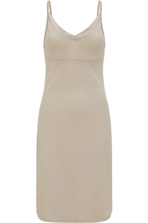 Women Casual Dresses - Women's Organic Natural Wool 100% Traceable Ultrafine Merino Perfect Slip Stone Dress Large Smalls Merino