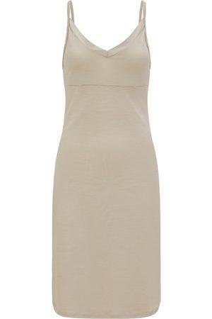Women Casual Dresses - Women's Organic Natural Wool 100% Traceable Ultrafine Merino Perfect Slip Stone Dress XL Smalls Merino
