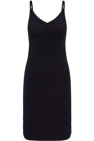 Women Casual Dresses - Women's Organic Black Wool 100% Traceable Ultrafine Merino Perfect Slip Midnight Dress Large Smalls Merino