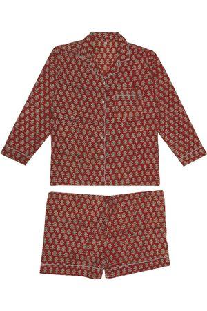Women Pajamas - Women's Organic Red Tiyaz Pyjama Set Large KOISI