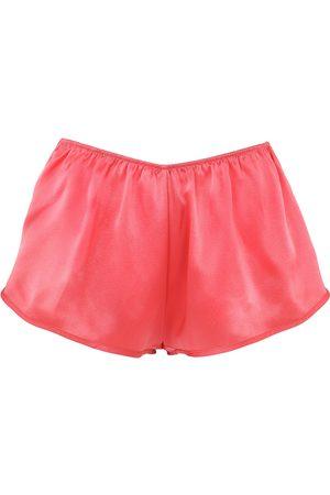 Women Pajamas - Women's Artisanal Yellow/Orange Silk Shorts Small lotte.99