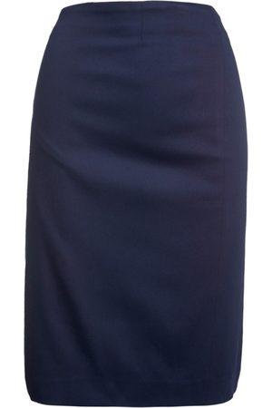 Women Pencil Skirts - Women's Artisanal Blue Cotton Dark Pencil Skirt XXXL Conquista