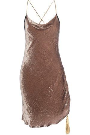Women's Artisanal Natural Silk Jordan Slip Dress Medium LAHIVE