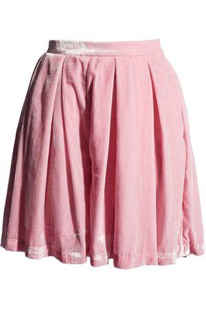 Women's Pink/Purple Velvet Silk Skorts 28in QUOD