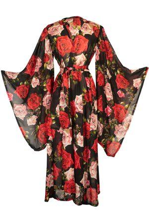 Women Kimonos - Women's Artisanal Black Bella Kimono Medium Jennafer Grace