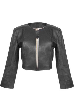 Women Leather Jackets - Women's Artisanal Black Leather Cordobesa Jacket Medium Kmana